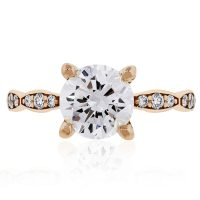 Tacori 46-2RD Sculpted Crescent 18k Rose Gold Diamond Engagement Ring