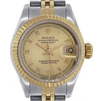 Rolex 69173 Datejust Two Tone Roman Dial Ladies Watch