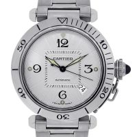 Cartier Pasha 2378 Stainless Steel Skeleton Back Watch
