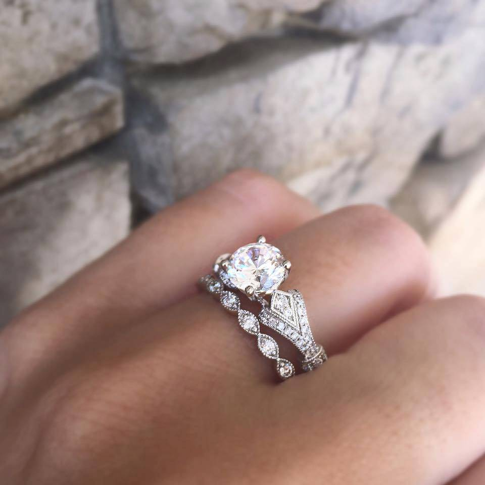 unique diamond semi ring img carat diamonds halo engagement setting split shank mount