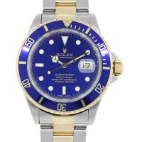 Rolex 16613 Submariner Blue Index Marker Dial Two Tone Watch