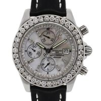 Breitling A13356 Windrider Chronomat Evolution MOP dial and bezel Watch