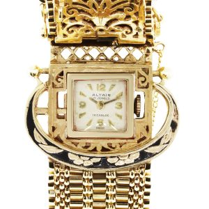 Altair 14k Yellow Gold Vintage Bracelet Watch