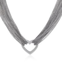 Tiffany & Co. Sterling Silver Multi Strand Heart Necklace