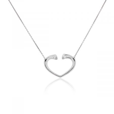 Tiffany & Co. Paloma Picasso Tenderness Sterling Silver Heart Necklace