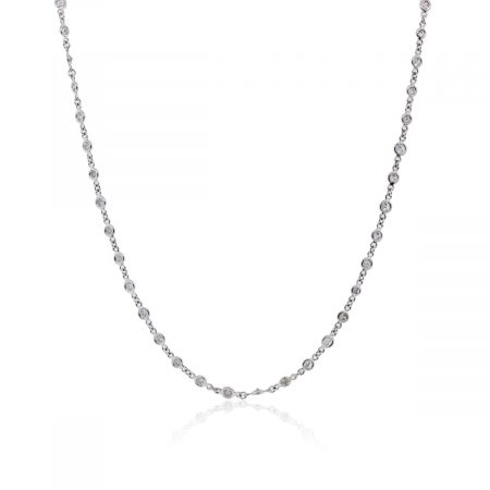 Platinum 2.64ctw Diamonds by The Yard Necklace