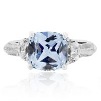 Tacori Sterling Silver Blue and White CZ Vintage Ring