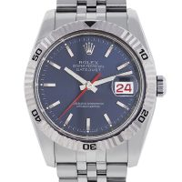 Rolex 116264 Datejust Turn-O-Graph Blue Dial Mens Watch