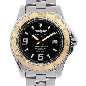 Breitling SuperOcean C17391 18K Rose Gold Bezel Stainless Steel Watch