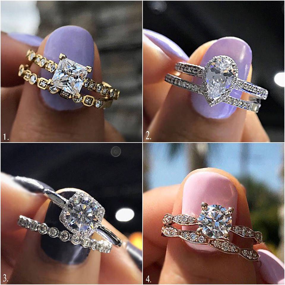 Halo or not engagement ring