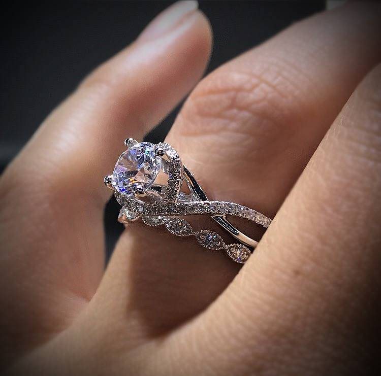 Twisted Shank Engagement Ring Eye Candy