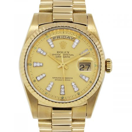Rolex 18238 Day Date Presidential 18k Yellow Gold Watch