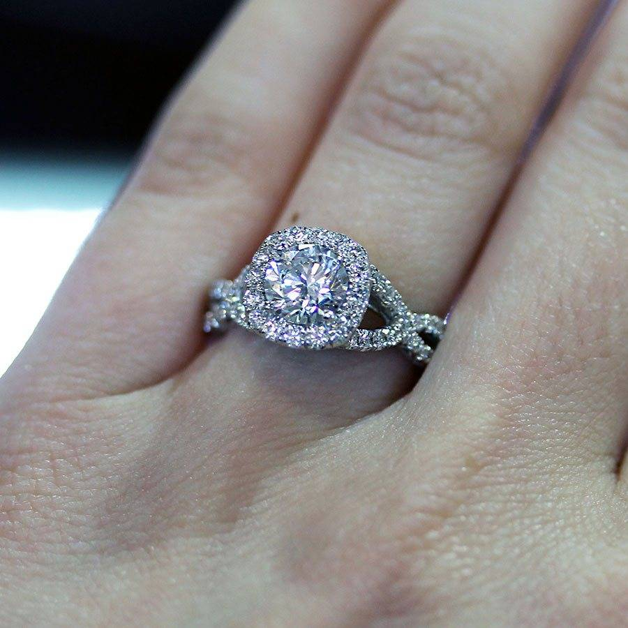 Twisted Shank Engagement Ring Eye Candy Raymond Lee Jewelers