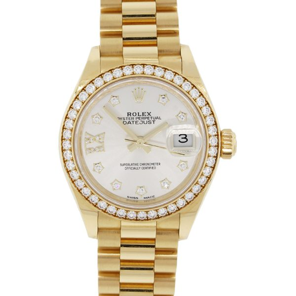 Rolex 279138RB Datejust Presidential Diamond Dial and Bezel Watch
