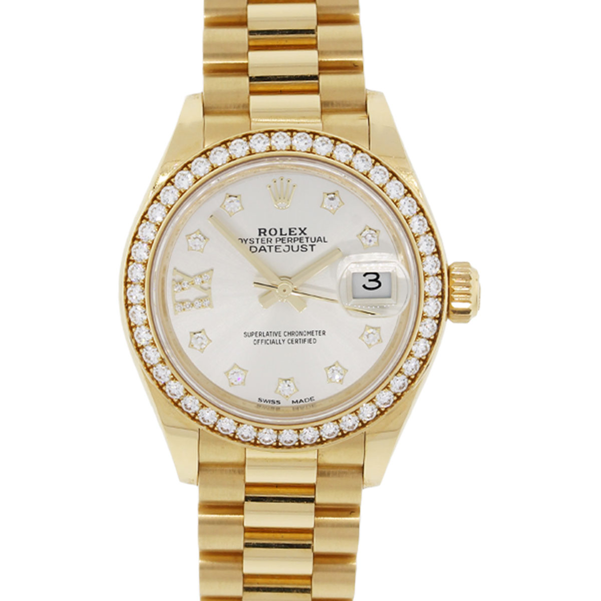 Rolex 279138rb Datejust Presidential Diamond Dial And