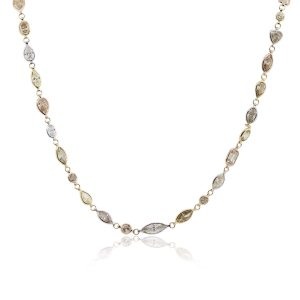 18k Tri Gold 51.34ctw Array of Diamonds Necklace