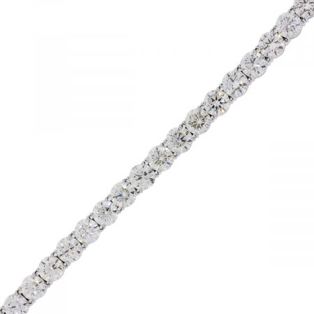 18k white gold 22.37ctw Round Brilliant Diamond Tennis Bracelet