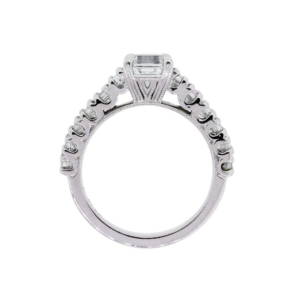 Platinum 2.08ctw GIA Certified Emerald Cut Diamond Engagement Ring