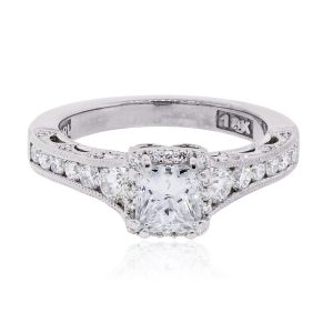 Tacori 18k White Gold 1.28ctw Diamond Reverse Crescent Diamond Ring