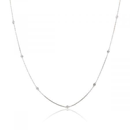 "14k White Gold 0.62ctw Diamonds By The Yard 36"" Necklace"