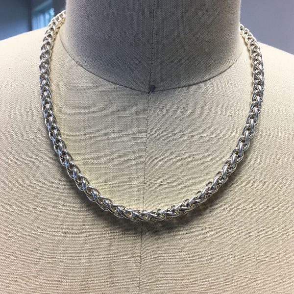 David Yurman 14k Yellow Gold and Sterling Silver 6mm Wheat Chain Necklace