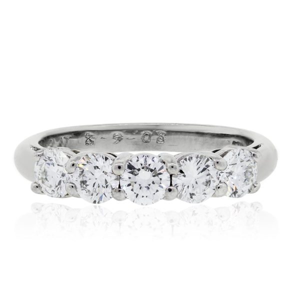 Platinum 1ctw Round Brilliant Diamond Wedding Band