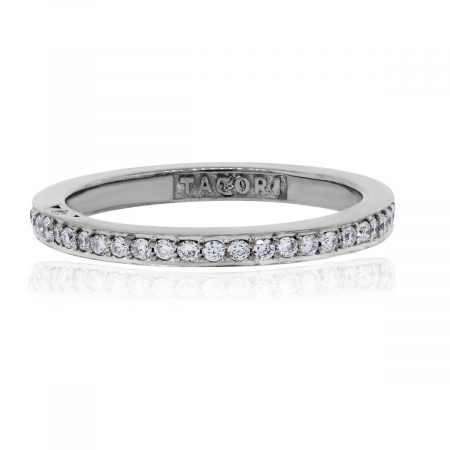 Tacori Dantela 18k White Gold 0.43ctw Diamond Eternity Thin Band