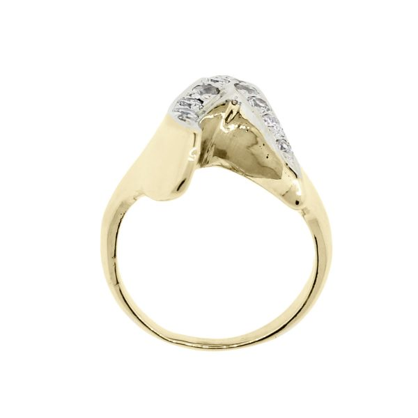 "14k Yellow Gold 0.30ctw Diamond ""V"" Ring"