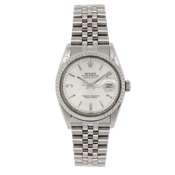 Rolex 16030 Datejust Silver Dial Jubilee Band Watch