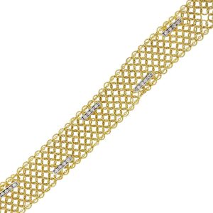 14k Yellow Gold 0.30ctw Diamond Mesh Bracelet