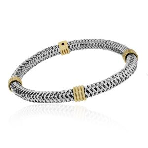 Roberot Coin Two Tone Bracelet