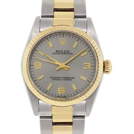 Rolex 77513 Oyster Perpetual Midsize Two Tone Watch