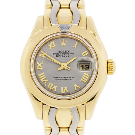 Rolex 80328 Pearlmaster 18k Two Tone Gold Ladies Watch