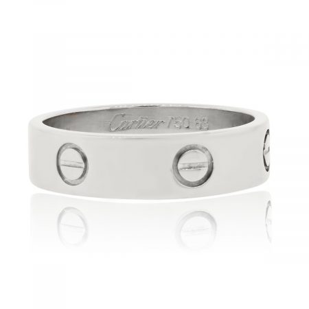Cartier 18k White Gold Size 63 Love Ring