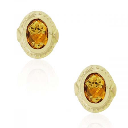 Citrine gemstone cufflinks