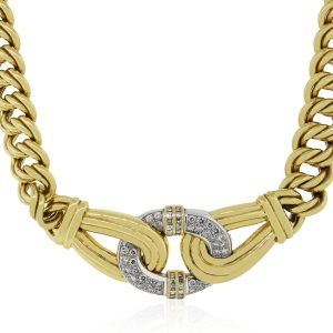 Yellow Gold diamod necklace