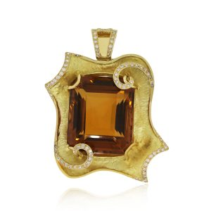 18k Yellow Gold 115.91ct Citrine Pendant