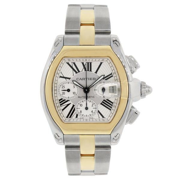 Cartier 2618 Roadster Chronograph Two Tone Watch