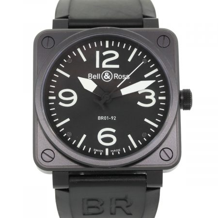 Bell & Ross BR01-92 Carbon Black PVD Black Dial Watch