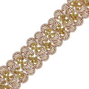 18k Rose Gold 14.71ct Fancy Diamond Circle Bracelet