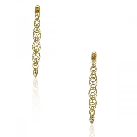 Buccellati 18k Yellow Gold Circle Drop Honolulu Earrings