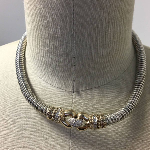 Alwand Vahan two tone necklace