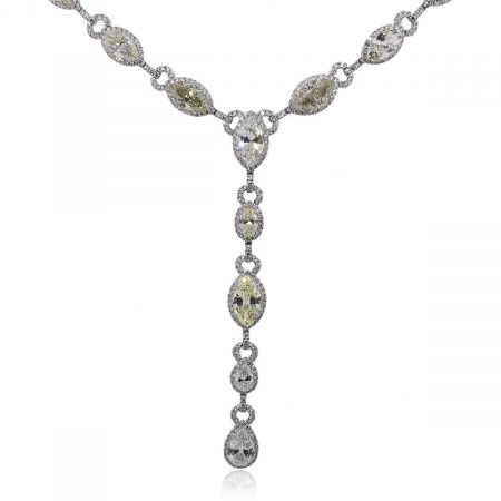 Platinum diamond necklace