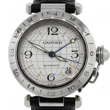 Cartier Pasha 2377 GMT Stainless Steel Watch