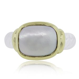 Yellow Gold Pearl noblesse ring