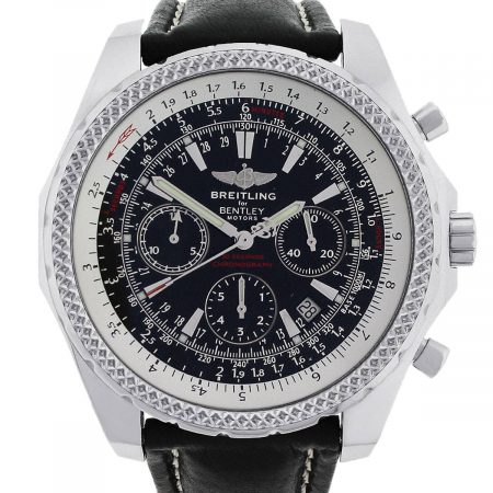 Breitling A25362 Bentley Stainless Steel Black Dial Watch