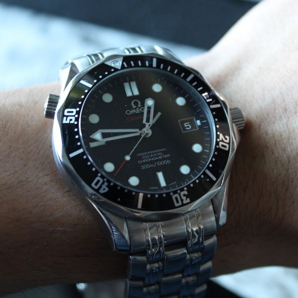 Omega Seamaster Black Dial Stainless Steel Watch