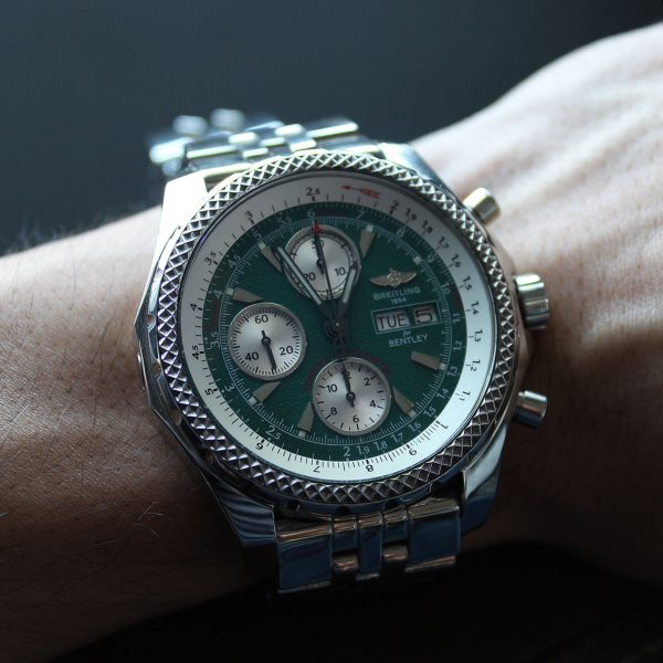 Breitling A13362 Bentley Stainless Steel Green Dial Watch