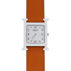 Hermes HH1.510 Stainless Steel Wrap Around Leather watch