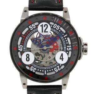 B.R.M V6-046 DeFrancesco Racing Sport Watch on Leather Strap Watch